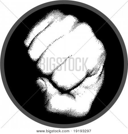 halftone fist