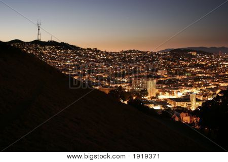 Sutro Tower At Night