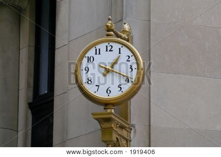 Gold Uhr