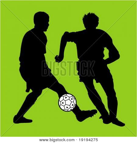 Jungs treten soccerball
