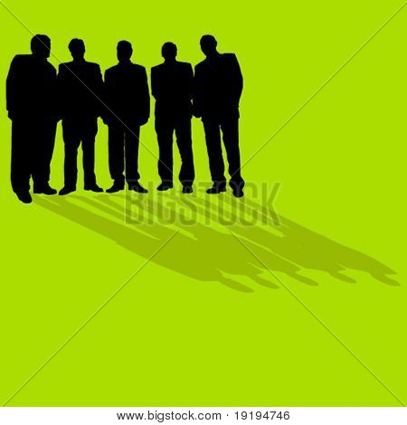 homens de negócios permanente