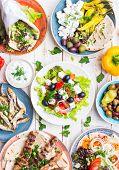 Greek Food Set poster
