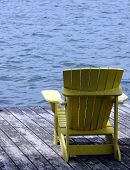 Adirondak Chair on a Dock near Water