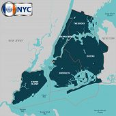 Boroughs Of New York City poster