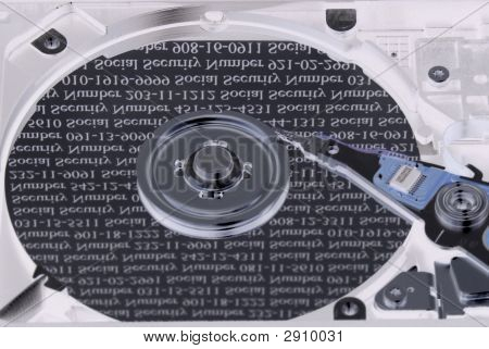 Social Security Numbers On Hard Drive Plate Inversed
