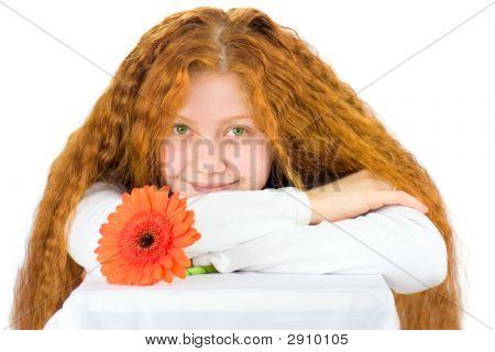 Woman With Gerbera