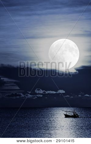 Moonlight Fishingboat