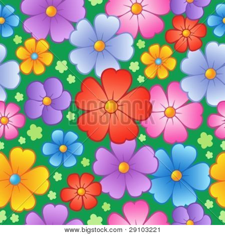 Flowery seamless background 6 - vector illustration.