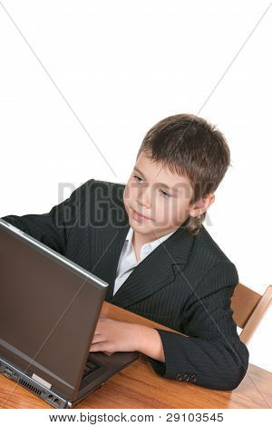 Boy At The Laptop