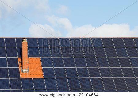 Solar Cells Around Chimney