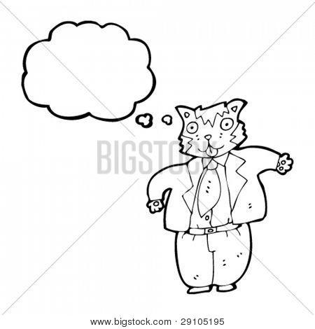dibujos animados de empresario de Gato gordo