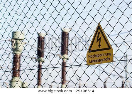 Transformer Station Sign