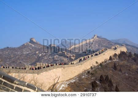 Great Wall Of China In Winter