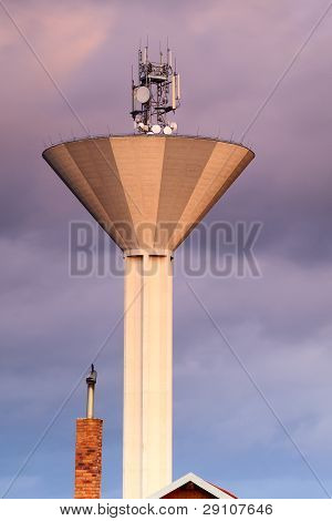 Modern water tank tower