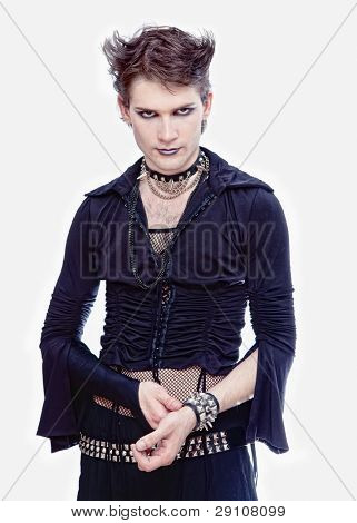 goth-style man isolated photo