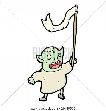 goblin waving flag cartoon