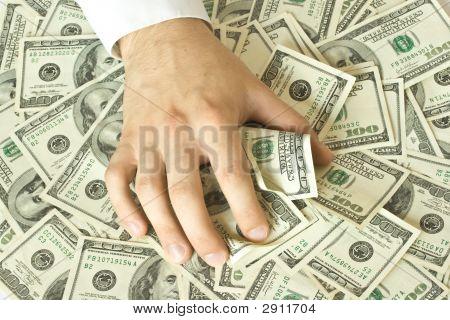 Greedy Hand Grabs Money