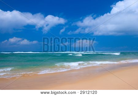 Peaceful Beach Scene