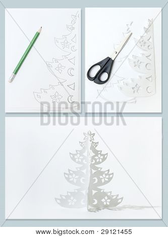 How To Make Christmas Tree From Office Paper