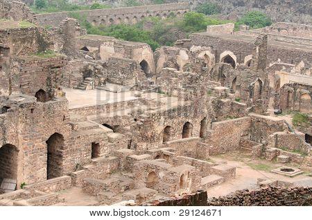 400 year old historic Golkonda fort in India