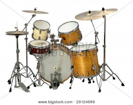 stock image of the musical instrument drum set