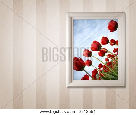 Frame With Tulips