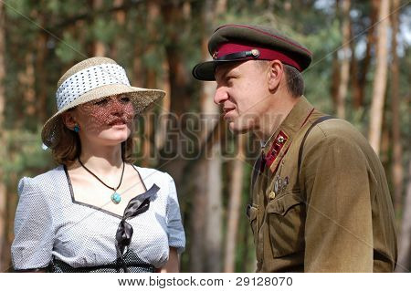 Red Army. War begin. State border of USSR. WW2 reenacting