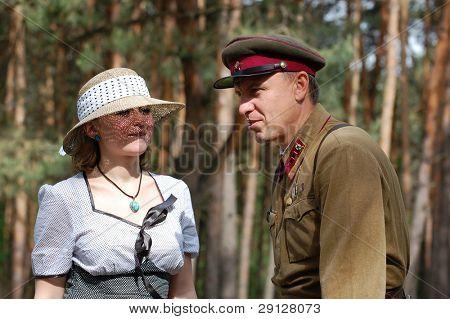 Red Army. War begin. State border of USSR. WW2 reenacting