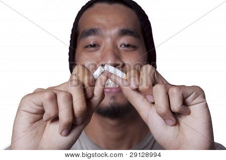 Breaking a Cigarette