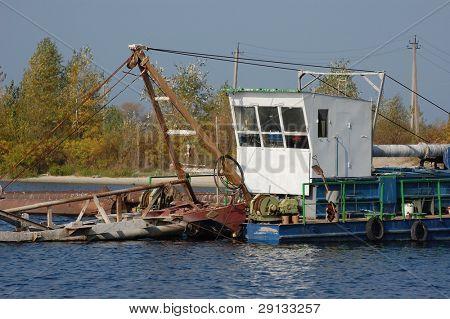 Abandoned vessel. Kiev region. Ukraine