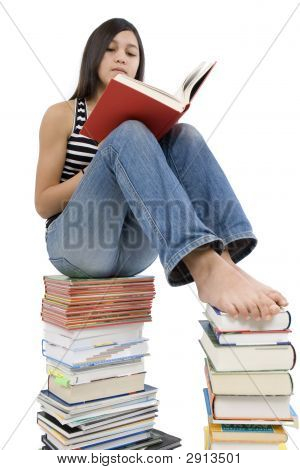 Girls Read Book