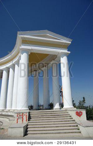 Colonnade at Potyomkin's house in Odessa, Ukraine