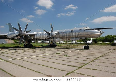 Bear. TU-95.Exhibit of museum of aviation . Kiev,Ukraine (Malorussia)