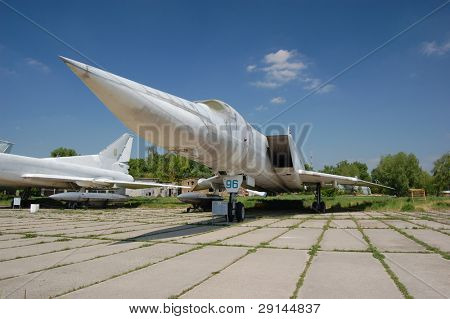 TU-22.Exhibit of museum of aviation . Kiev,Ukraine (Malorussia)
