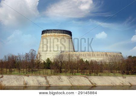 Chernobyl nuclear power plant.Abandoned construction 5 and 6 reactors. Kiev region,Ukraine