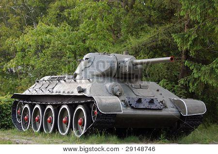 Soviet tank of the Second World War.Novie Petrovtsi. Near Kiev,Ukraine (Malorussia)