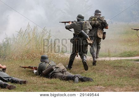 German soldiers of WW2
