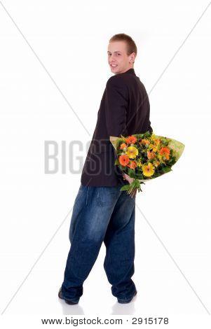 Teen mit Blumen