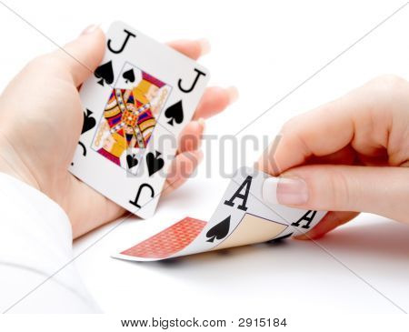 Blackjack Hand - Drawing Ace