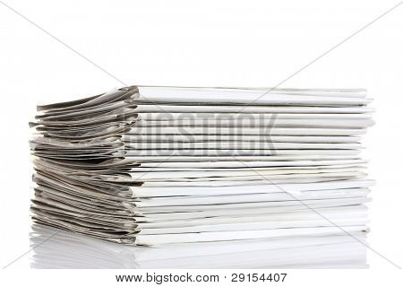 File folders on white background