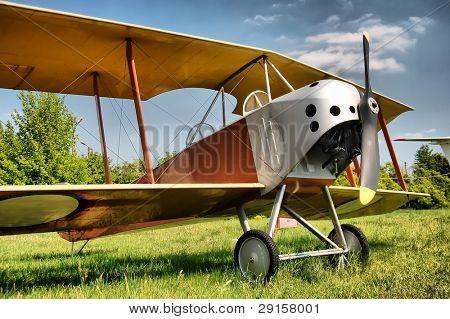 HDR.Old biplane