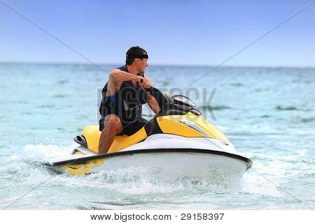 Man Drive On The Jetski