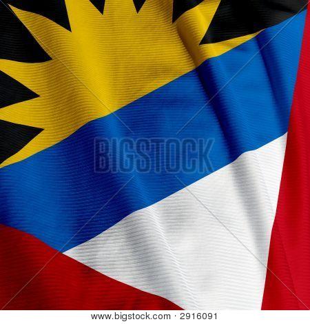 Antigua And Barbudan Flag Closeup