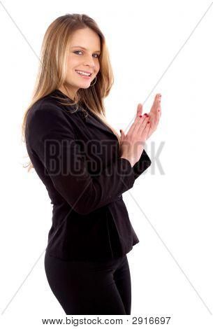 Business Woman Clapping