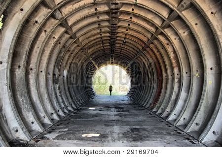 Tunnel. Abandoned military base