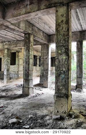 Lost city. Abandoned Psychiatric Hospital Construction