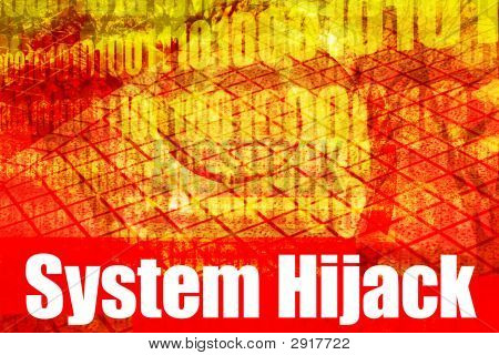 System Hijack Alert Warning Message