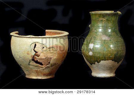 Arqueología como hobby.Viejo de jags de pista de tierra