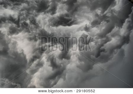 Dramatic stormy clouds .Kiev,Ukraine