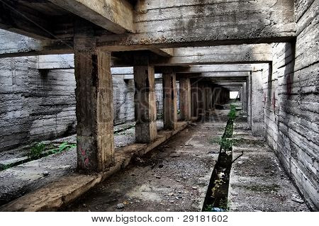 Abandoned bunker.Lost city.Near Chernobyl area.Kiev region,Ukraine